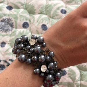 The Limited pearl beaded bracelet